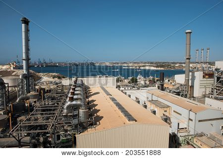Delimara Power Station. Marsaxlokk, Malta