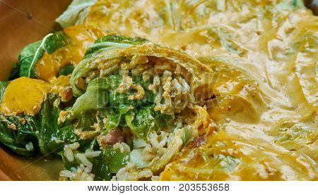 Indian Stuffed  Curry Cabbage