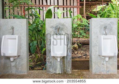Urinals Men Public In Toilet Room, Wc