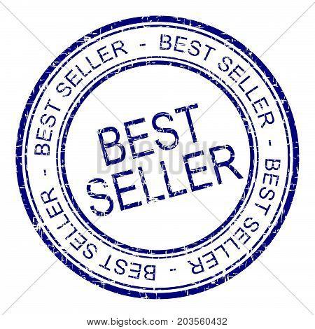 blue Bestseller rubber stamp on white background - illustration