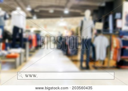 Supermarket/mall Blur For Background And Shopping With Address Bar, Online Shopping Background, Busi