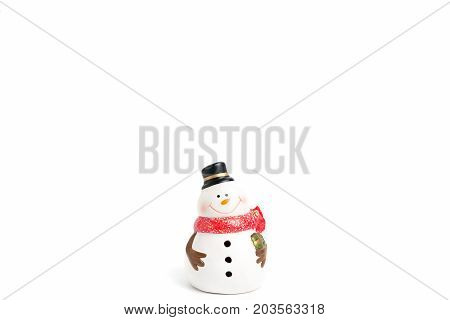 Figurines of  Snowman on a white background