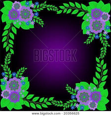 Black Floral Frame