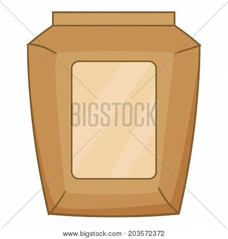 Big cement bag icon. Cartoon illustration of big cement bag vector icon for web