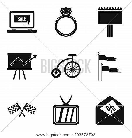 Direction icons set. Simple set of 9 direction vector icons for web isolated on white background