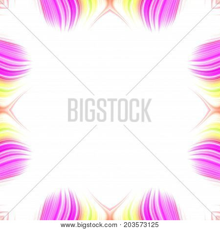 Symmetry colored decorative decor frame and white space