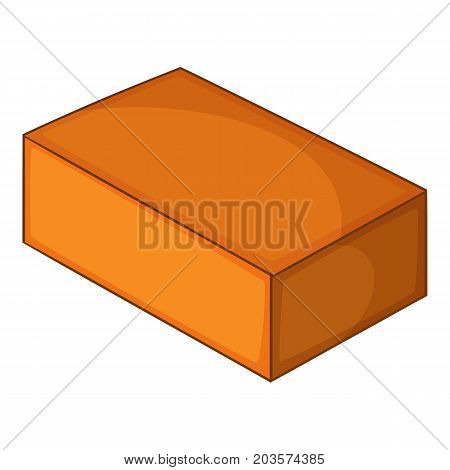 Red brick icon. Cartoon illustration of red brick vector icon for web