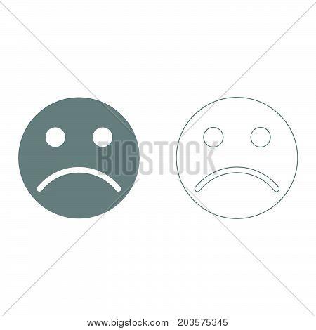 Sad Emoticon It Is Icon .