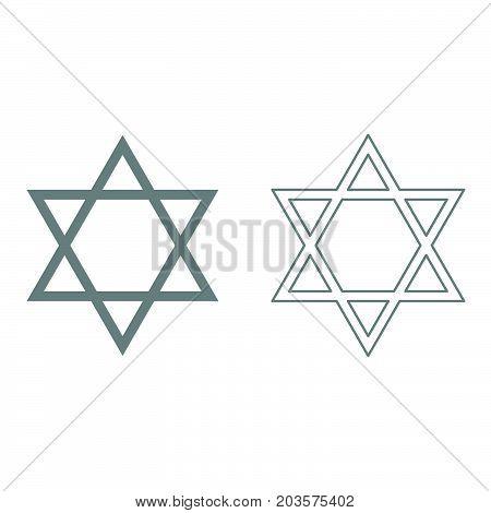 Jewish Star Of David It Is Icon .