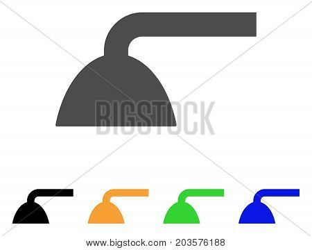Shower Head icon. Vector illustration style is a flat iconic shower head symbol with black, grey, green, blue, yellow color versions. Designed for web and software interfaces.