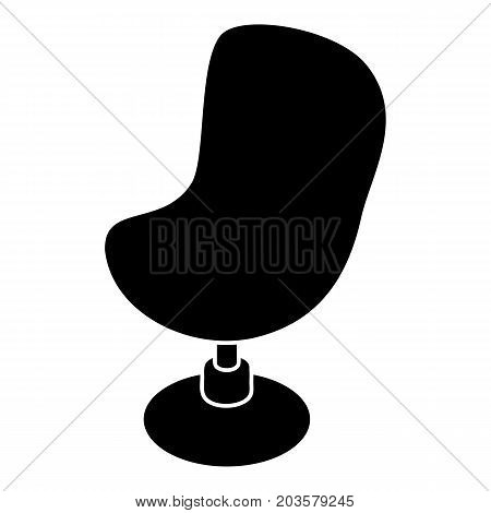 Modern chair icon. Simple illustration of modern chair vector icon for web design isolated on white background