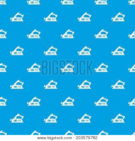 Jack plane pattern repeat seamless in blue color for any design. Vector geometric illustration