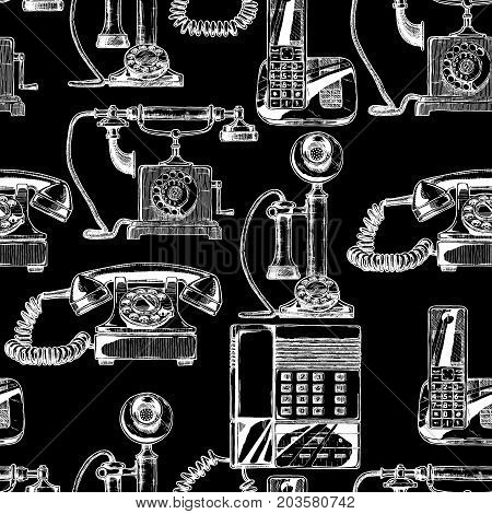 Pattern With Telephone