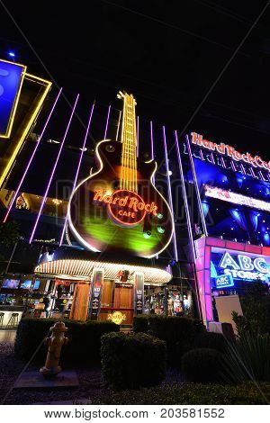 The Hard Rock Cafe On The Strip.