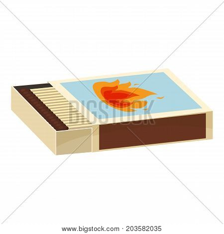 Matchbox icon. Cartoon illustration of matchbox vector icon for web