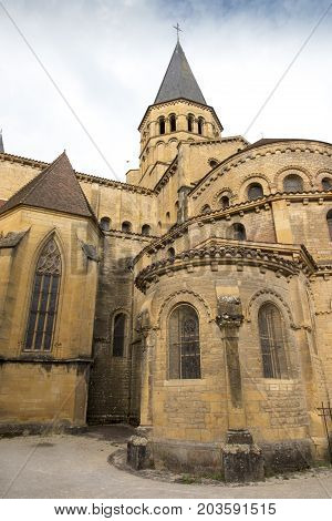 The basilica du Sacre Coeur in Paray-le-Monial France