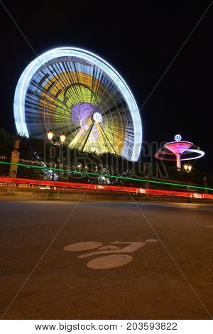 Ferris Wheel Long Exposre