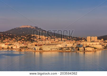 sunrise in Toulon La Seyne sur Mer. France
