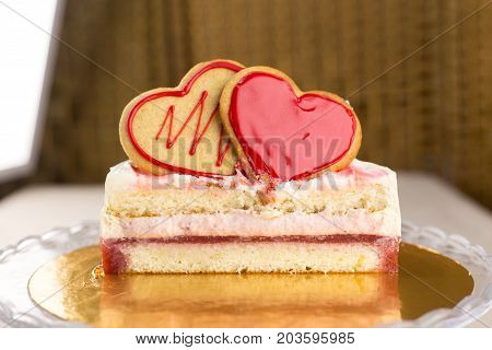 Cake And Biscuits In The Shape Of A Heart In The Context Of
