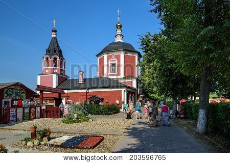 SUZDAL/ RUSSIA - AUGUST 19, 2017. Dormition Church in the historical center of Suzdal, Golden Ring, Russia