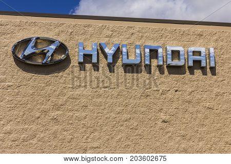 Indianapolis - Circa September 2017: Hyundai Motor Company Dealership. Hyundai is a South Korean Multinational Automotive Manufacturer XII