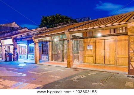 TAIPEI TAIWAN - JULY 02: This is the traditional Chinese architecture of Bopiliao historical block a popular travel destination and old area on July 02 2017 in Taipei