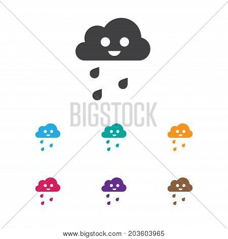 Vector Illustration Of Air Symbol On Drizzle Icon