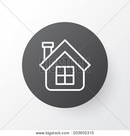 Premium Quality Isolated Residential Element In Trendy Style.  Estate Icon Symbol.