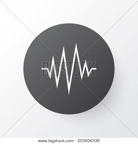 Premium Quality Isolated Heartbeat Element In Trendy Style.  Pulse Icon Symbol.