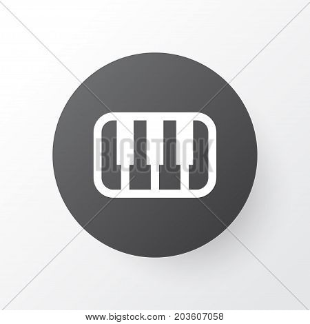 Premium Quality Isolated Octave Element In Trendy Style.  Piano Icon Symbol.