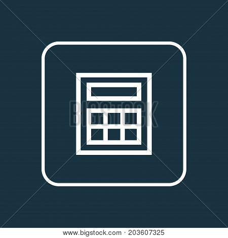 Premium Quality Isolated Calculator Element In Trendy Style.  Calculate Outline Symbol.