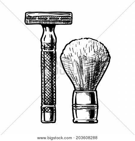 Vector Illustration Of Shaving Accessories