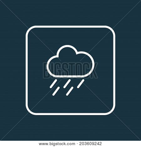 Premium Quality Isolated Drizzle Element In Trendy Style.  Rainstorm Outline Symbol.