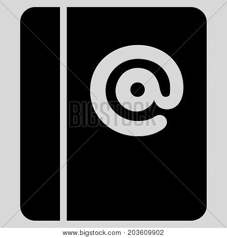 Emails vector icon. Flat black symbol. Pictogram is isolated on a light gray background. Designed for web and software interfaces.