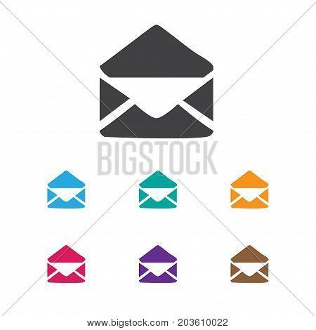 Vector Illustration Of Internet Symbol On Open Envelope Icon