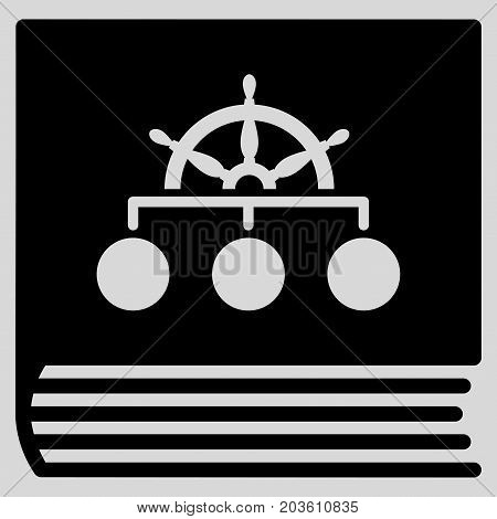 Ship Guide Book vector icon. Flat black symbol. Pictogram is isolated on a light gray background. Designed for web and software interfaces.
