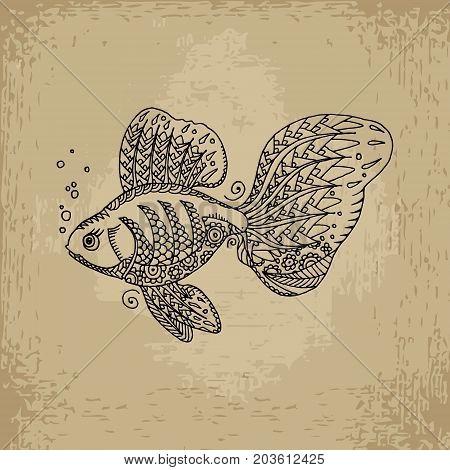 Golden Fish Illustration.