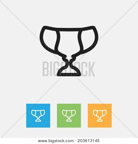 Vector Illustration Of Science Symbol On Trophy Outline
