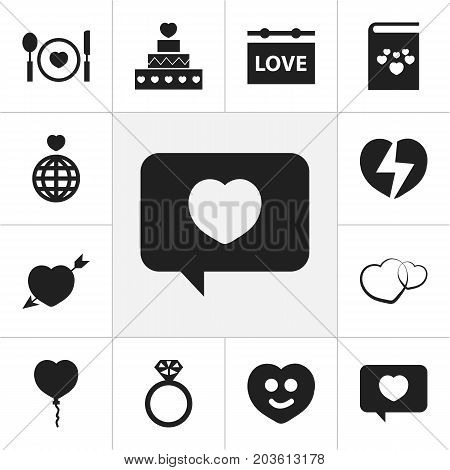 Set Of 12 Editable Amour Icons. Includes Symbols Such As Board, Cutlery, Happy And More