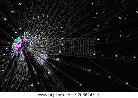 Dark Illuminated Ferris Wheel