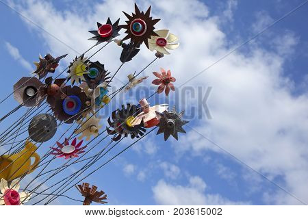 Weather Vanes On A Beach