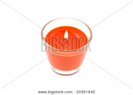 Burning Aromatic Candle