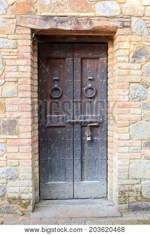 Castle Door. Castello Di Amorosa. Napa Valley, California, USA.