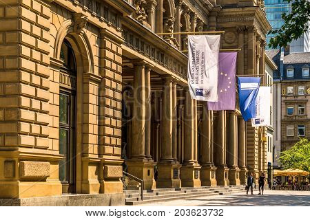 Frankfurt, Germany - July 27, 2017: Frankfurt Stock Exchange building.