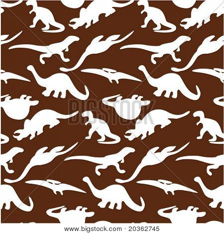 Seamless dinosaur pattern (vector)