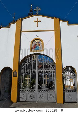 Entrance to a Monastery complex Privina Glava, Sid, Serbia
