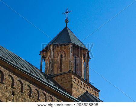 Tower of main Church in Monastery complex Privina Glava, Sid, Serbia