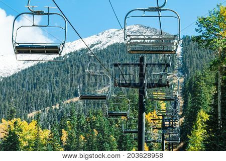 Arizona Snowbowl in summertime in Flagstaff Arizona United states.