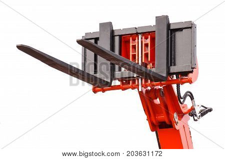Part and detail of forklift loader or stacker technology
