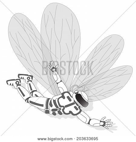 Astronaut With Butterfly Wings